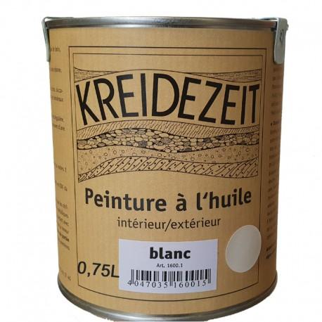 Peinture à l'huile naturelle blanche 0,75L.