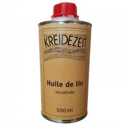 Huile de lin siccativée, 0,5 Litre.