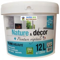 Peinture végétale naturelle blanche Nature et décor.