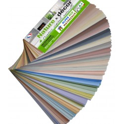 Peinture végétale naturelle colorée.