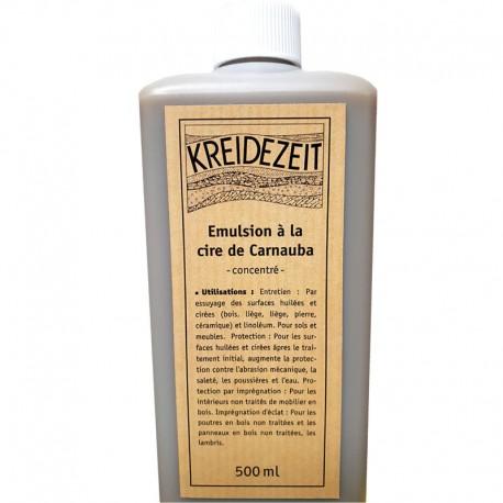 Émulsion à la cire de carnauba concentré Kreidezeit.