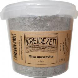 Mica muscovite fin Kreidezeit, pot de 125 gr.