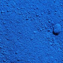 Pigment bleu à la chaux.
