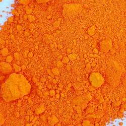 Pigment orange à la chaux.