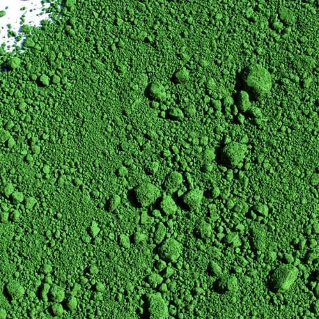 Pigment vert de chrome.