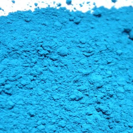 Pigment bleu azur.