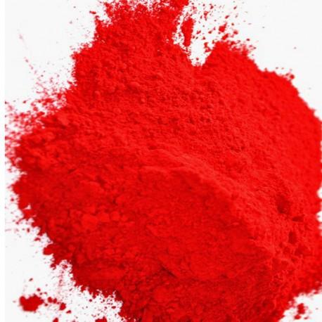 Pigment rouge vermeil.