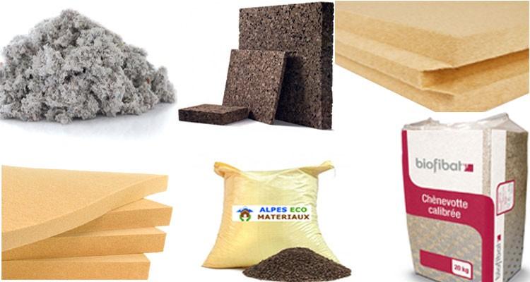 Isolations naturelles, liège, ouate de cellulose, chènevotte, laine de bois, fibre de bois.