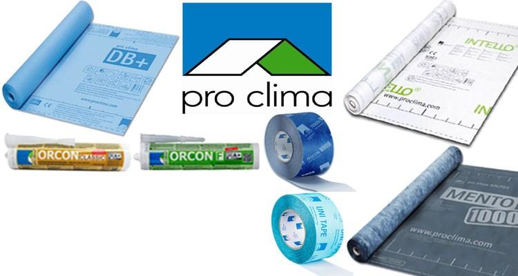 Proclima membranes d'étanchéités et accessoires.
